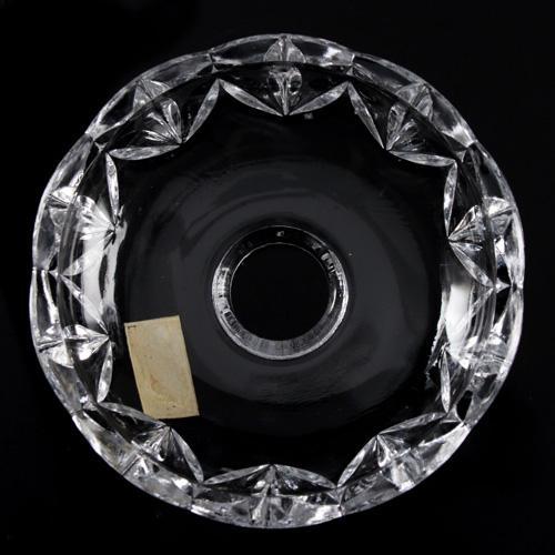 Bobeche coppa cristallo Boemia Ø10 cm, foro Ø32 mm, 5 fori laterali. Per restauro di lampadari antichi.