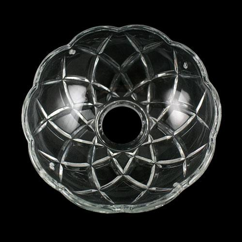 Bobeche lampadari Vetro veneziano Ø 10 cm, foro Ø 27 mm, con 4 fori laterali.