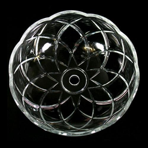 Bobeche lampadari Vetro veneziano Ø 15 cm, foro Ø 12 mm, NO fori laterali.
