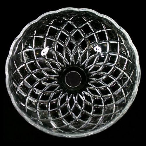 Bobeche lampadari vetro veneziano Ø20 cm foro Ø18 mm NO fori laterali.