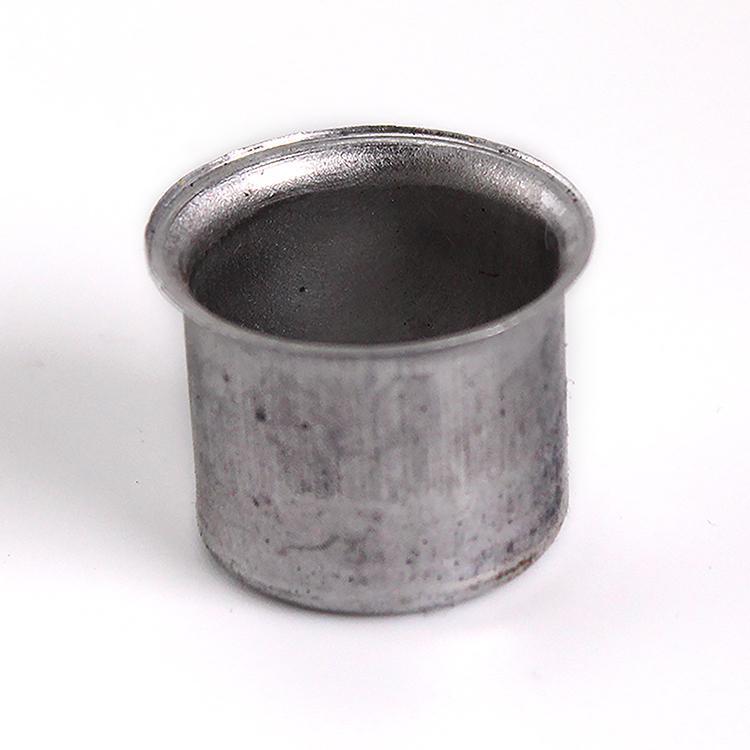 Bossola in alluminio #7 Ø24,5 mm con foro per ingessatura lampadari vetro Murano