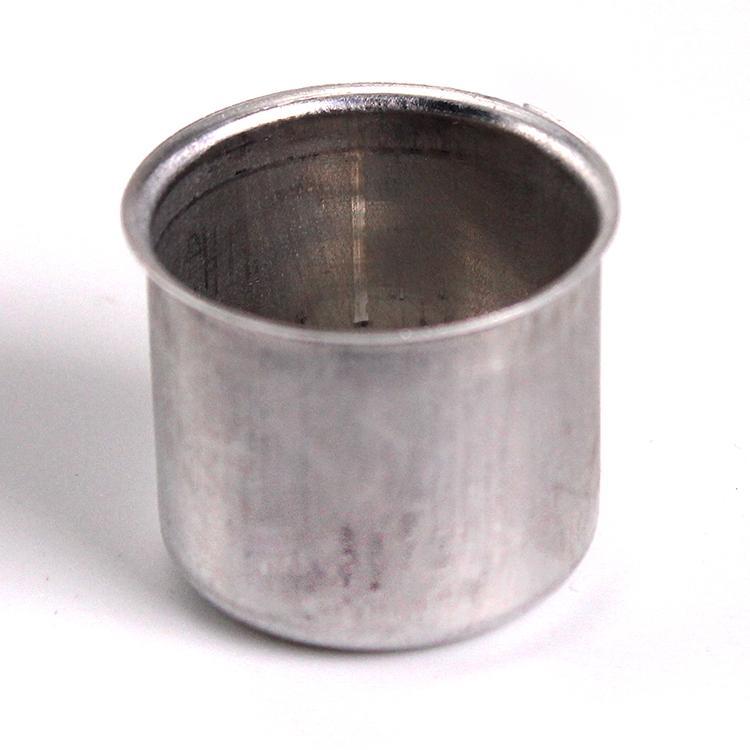 Bossola in alluminio #8 Misura Ø27,5 con foro per ingessatura lampadari vetro Murano