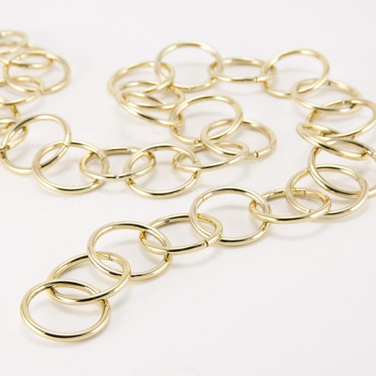 Catena metallica oro anello maglia tonda 3,8x30 mm per lampadari
