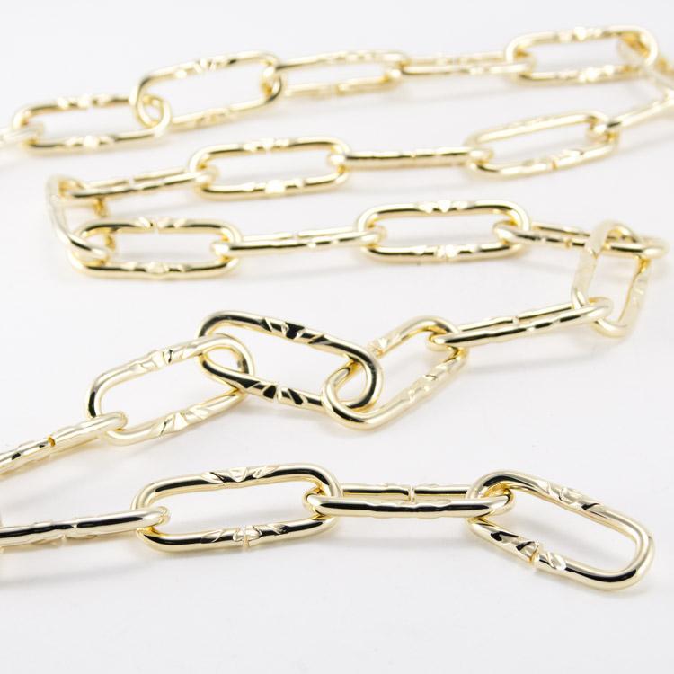 Catena metallica oro maglia francese 3,8x12x40 mm per lampadari
