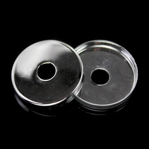 Centratubo nickel spazzolato a dischetto Ø35 mm con foro Ø10 mm