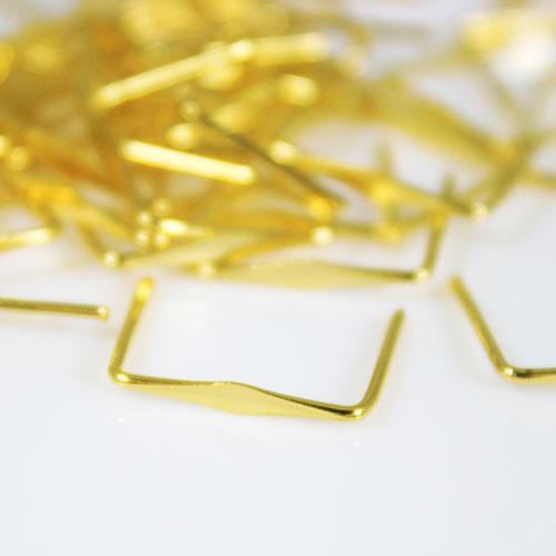 Clip ottone brillante, rifinitura liscia, 14 mm per agganci cristalli.