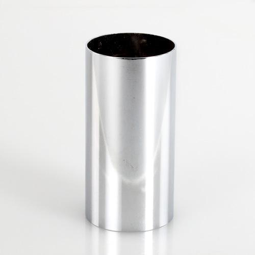 Copri porta-lampada 30 x 60 mm per lampada E14 cromo lucido galvanico.