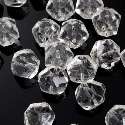 Perla inglese in cristallo di Boemia sfaccettata Ø12 mm per restauro lampadari antichi