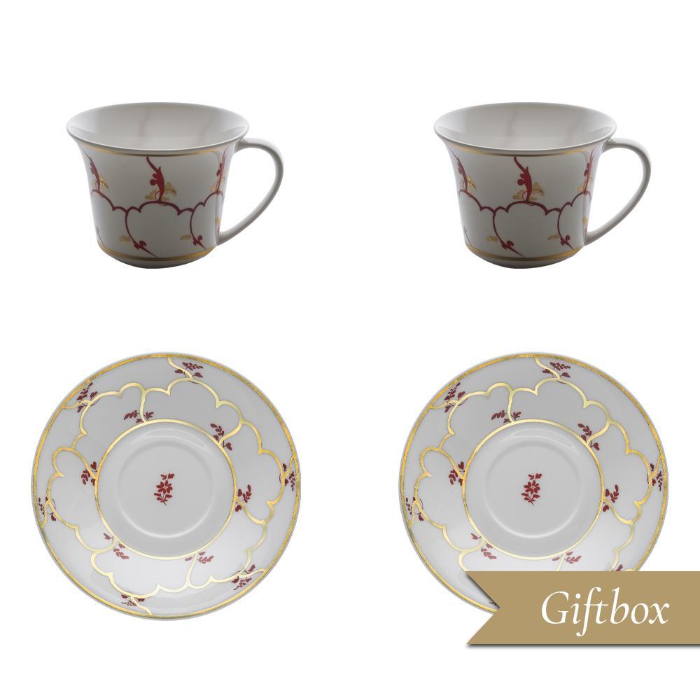 Set tè 4 pezzi in Giftbox | Feston e Cadena Rosso