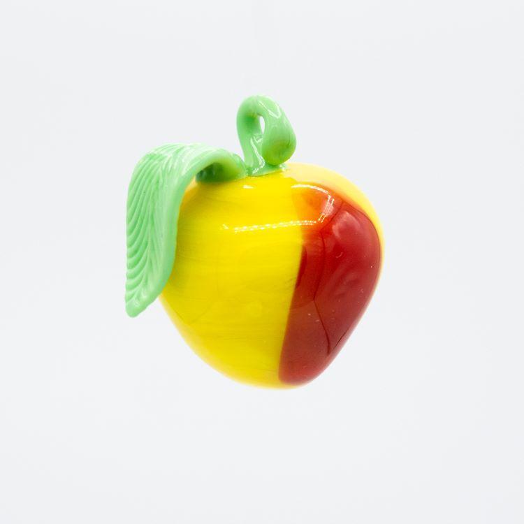 Pendente mela multicolore frutto in vetro di Murano a lume