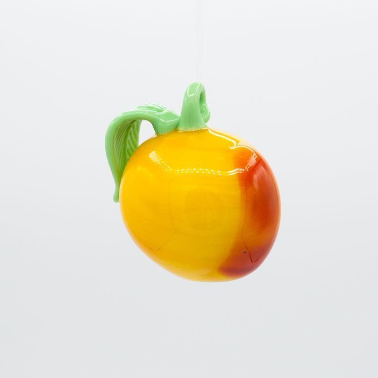 Pendente pesca multicolore frutto in vetro di Murano a lume