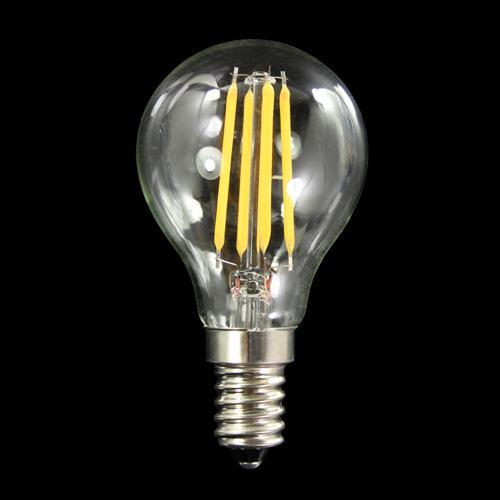 Lampadina con 4 strisce Led COB lineari, attacco E14, 4W 230V, luce naturale 4000K.