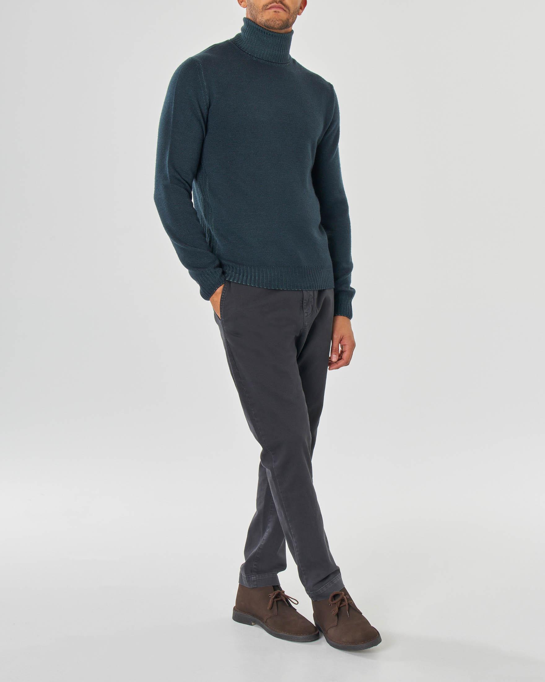 Dolcevita verde in pura lana merinos finezza 7