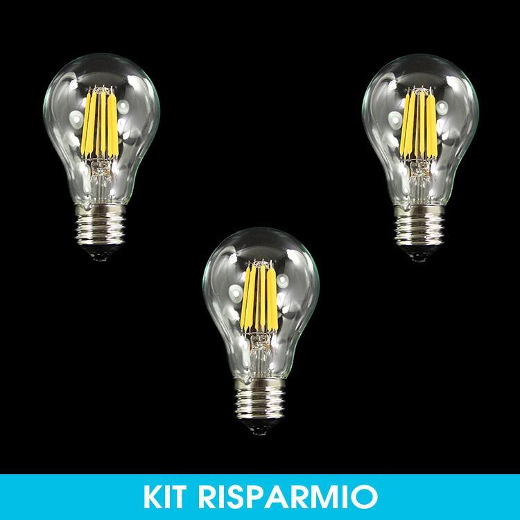 Risparmio! 3 pz Lampadine led E27 6W 230V  luce calda 3000K