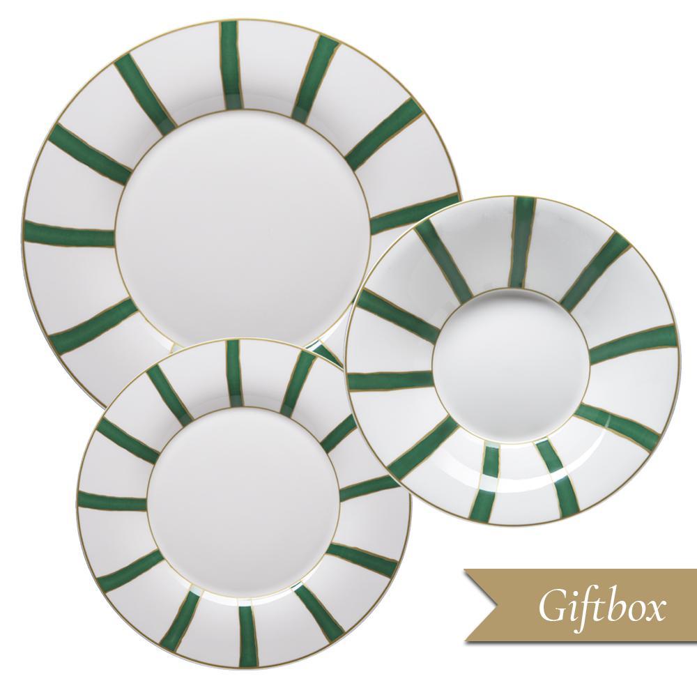 Set 3 pezzi in Giftbox GCV   Striche Verdi e Oro