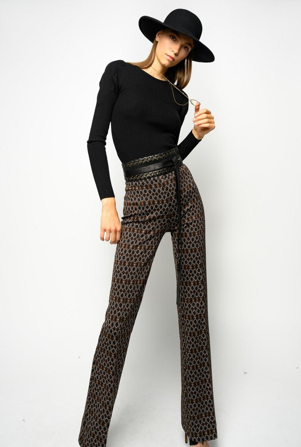 Pantaloni fantasia geometrica '70 Pinko