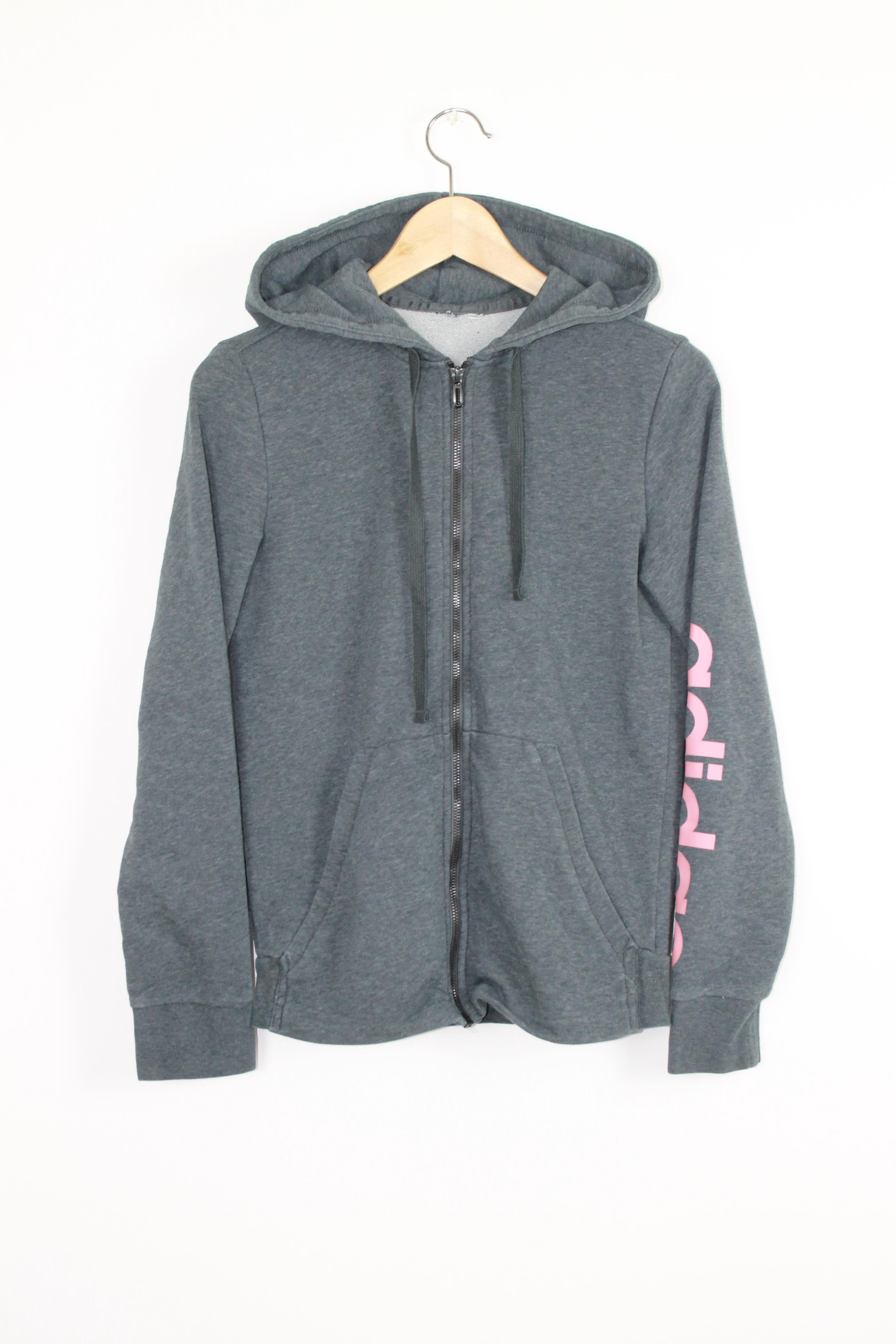 Adidas - Felpa zip cappuccio