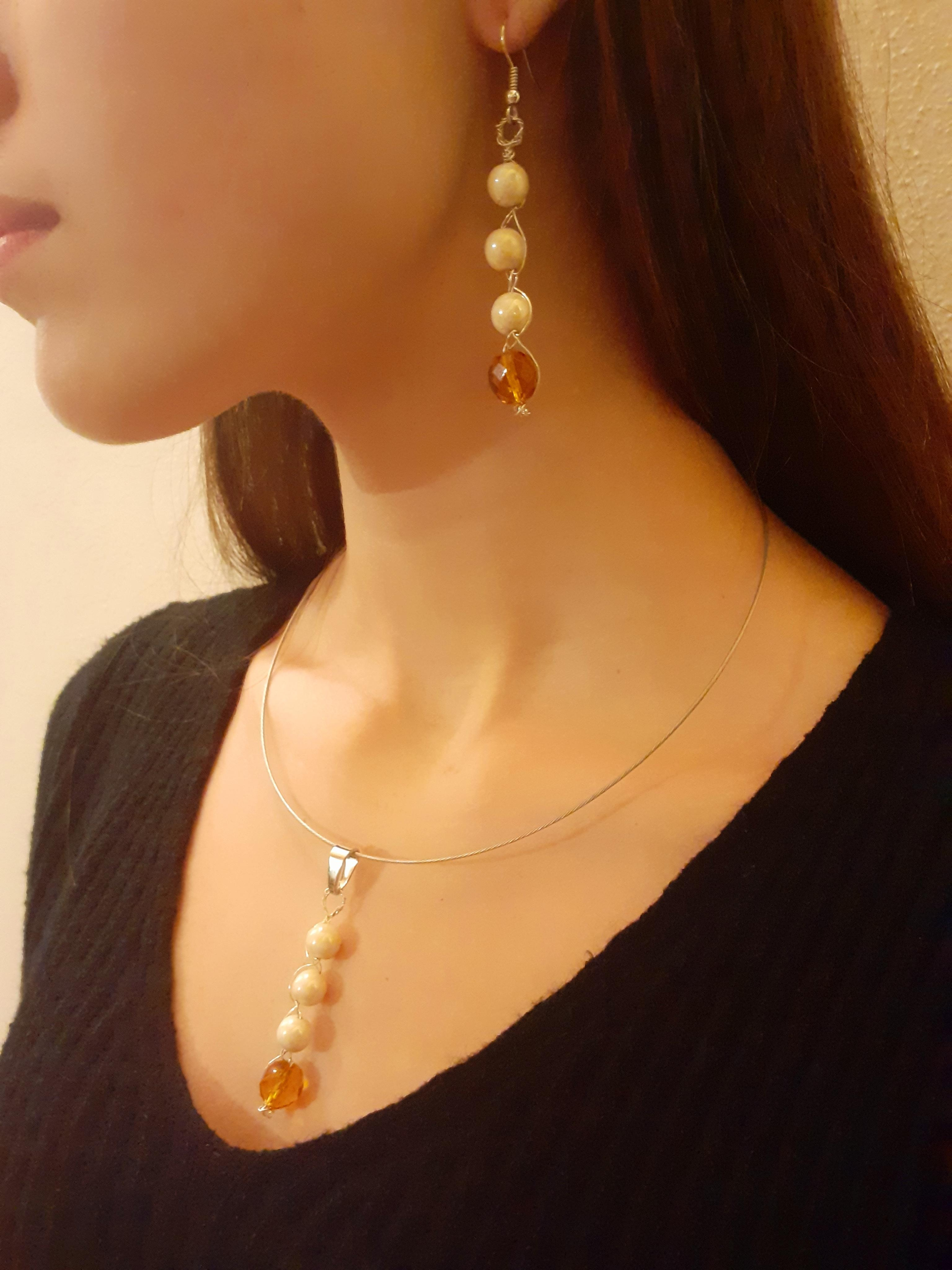 Matching necklace and earrings | Handmade jewellery buy online