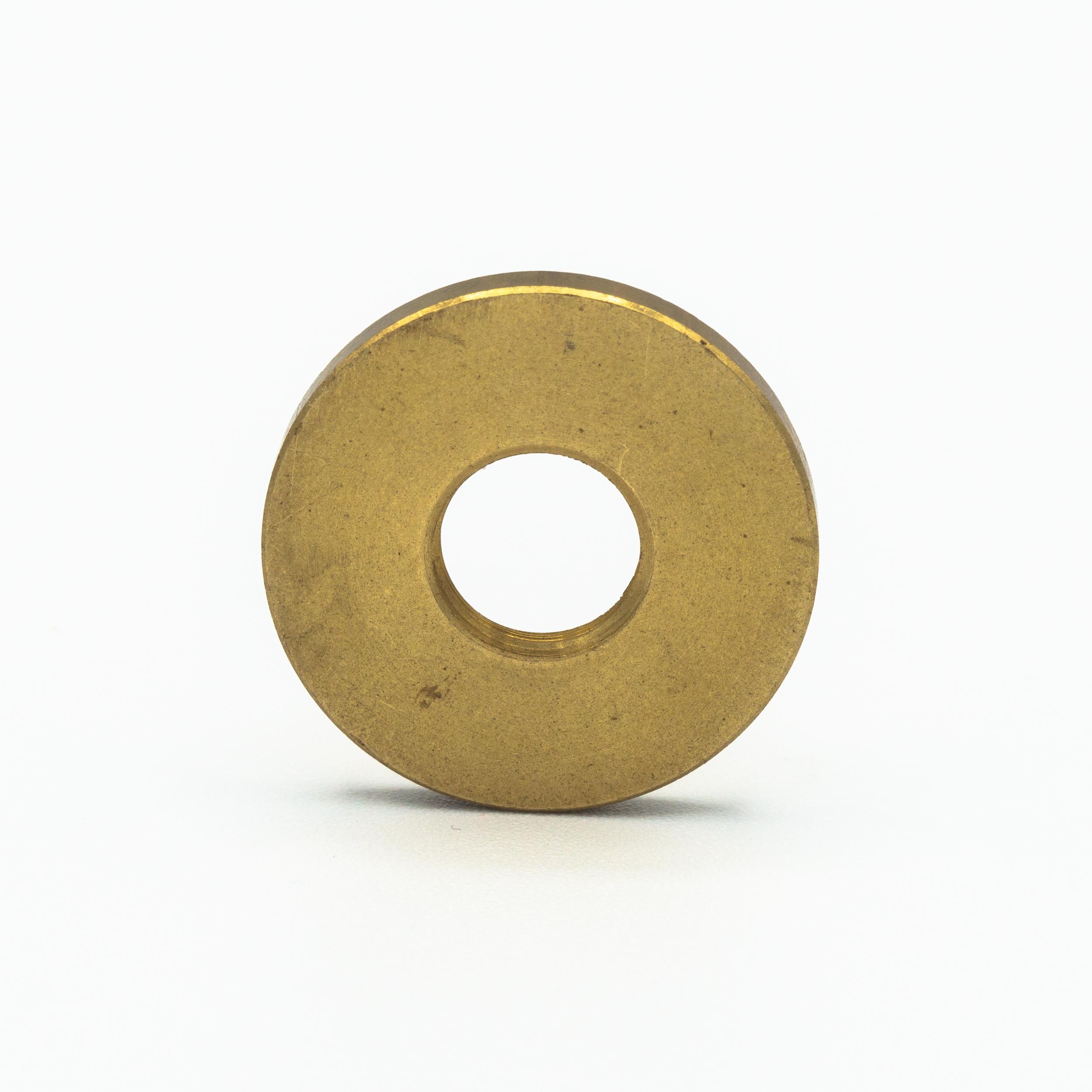 Rondella piana Ø25x3 mm M10x1 ottone grezzo