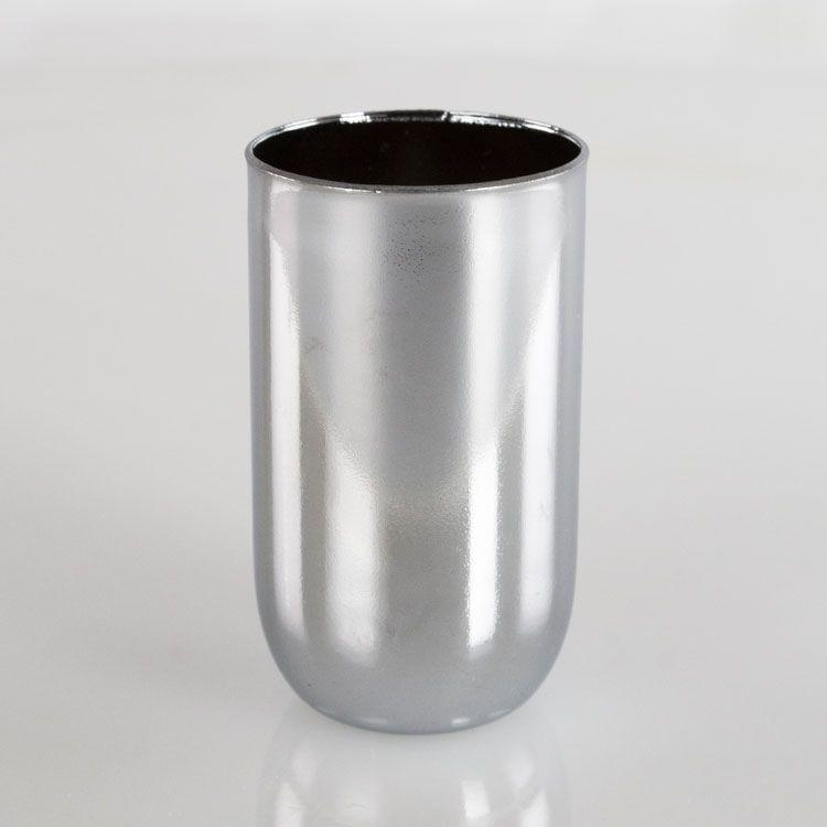 Bicchierino metallico cromo E14 Ø30 mm foro 10 mm