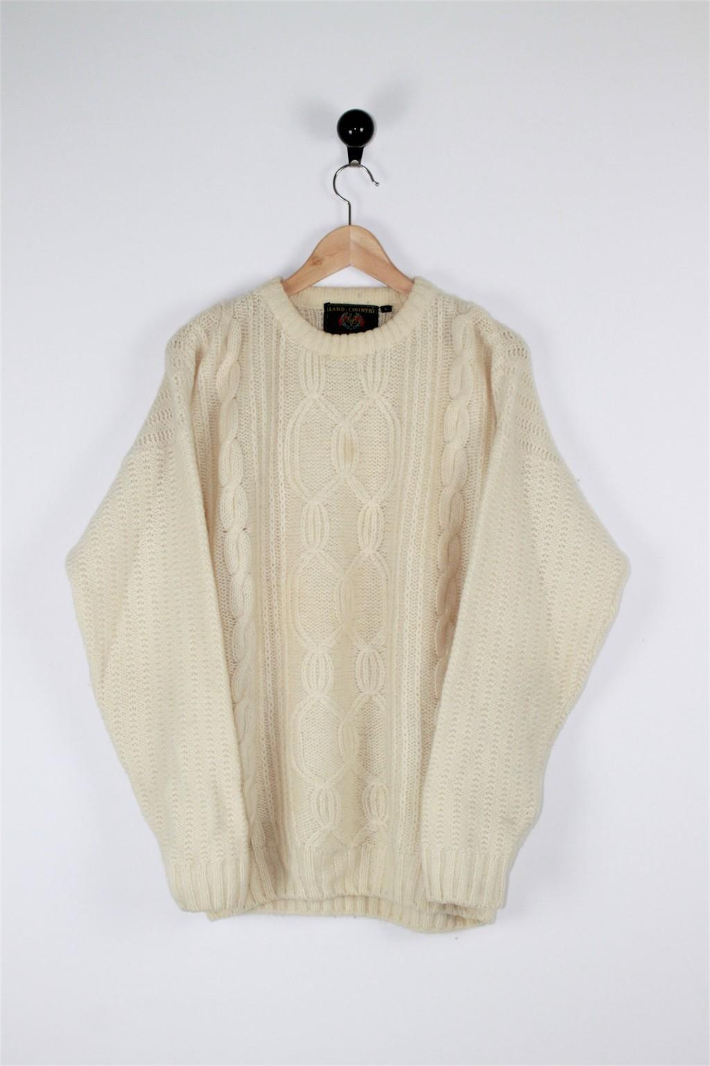 Maglia treccia lana