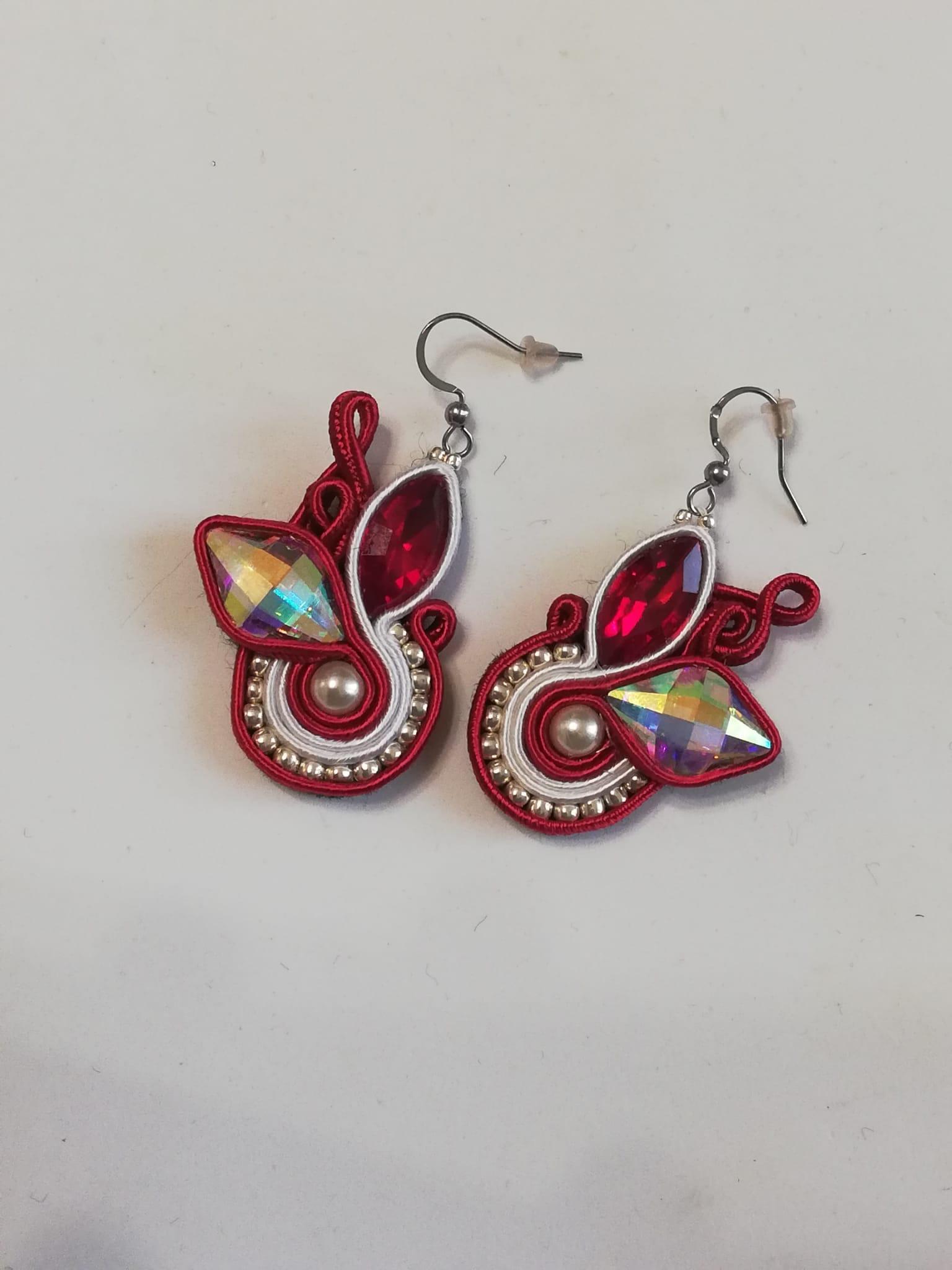 Soutache earrings. Handmade and hand-sewn jewellery