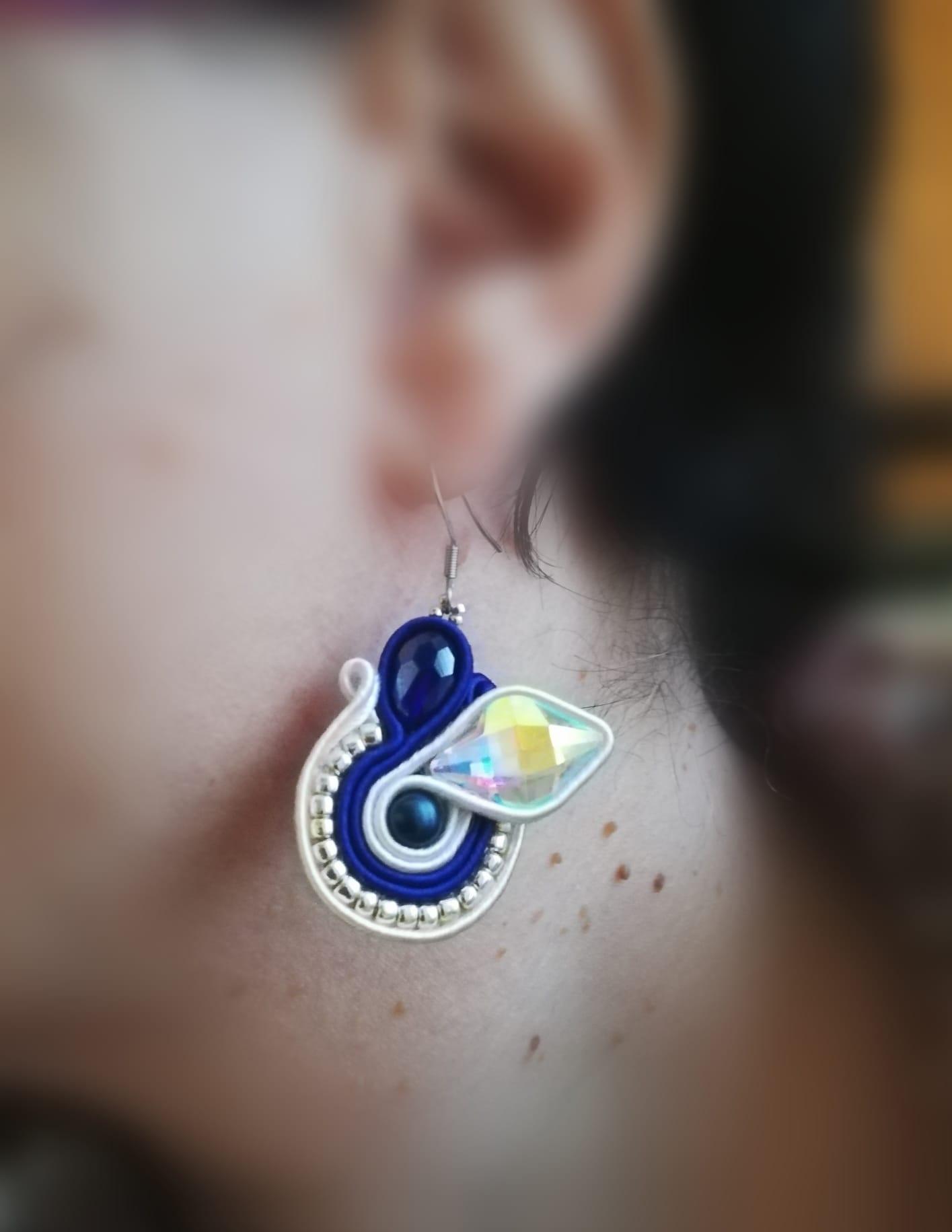 Boucles d'oreilles bijou Soutache | Bijoux faits main en ligne