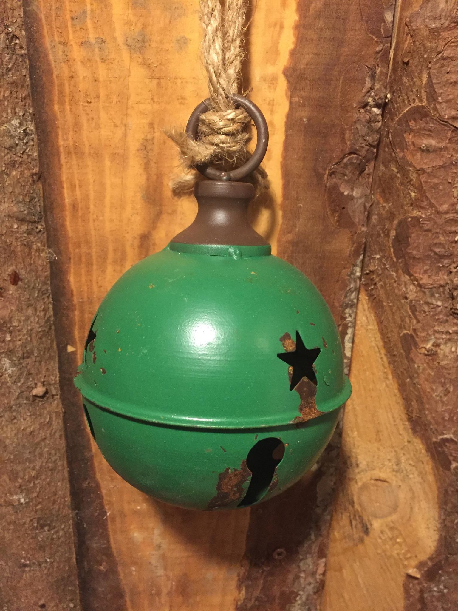 Campana jingle vintage verde
