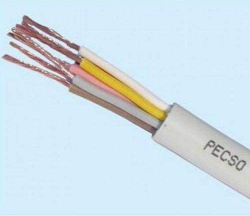 Cavo elettrico tondo sezione a 5 cavi da Ø 2,5 mm. Color grigio chiaro