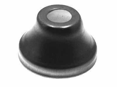 Centratubo a cono in ferro cromabile Ø33x21 mm con foro centrale Ø10,25 mm