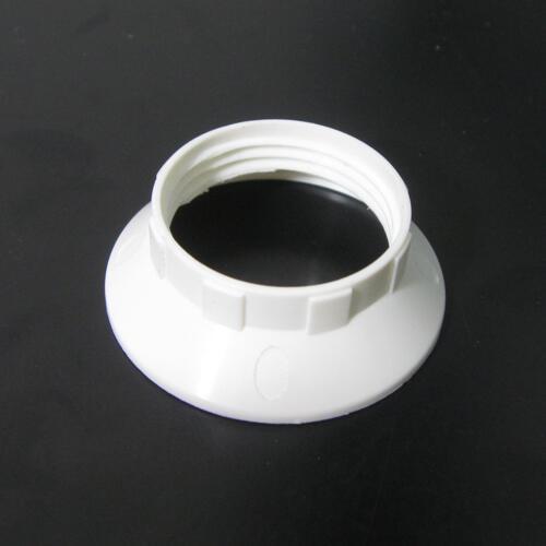 Ghiera bassa slim Ø34 mm per portalampada E14 bianco