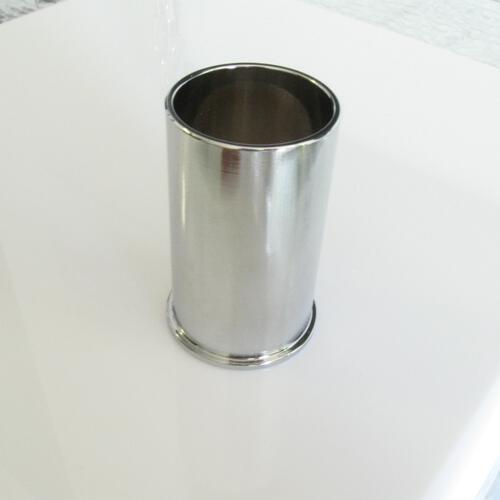 Copri portalampada ghiera E14 ottone oro spazzolato Ø35 x h55 mm con zoccolo