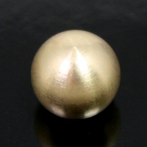 Finale ottone grezzo a sfera Ø10 mm foro interno M4