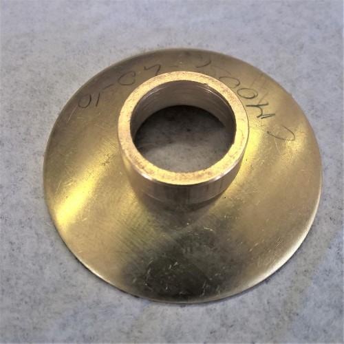 Lente Ø40 ottone + anello a pressione con foro Ø14 mm per canna da 13 mm