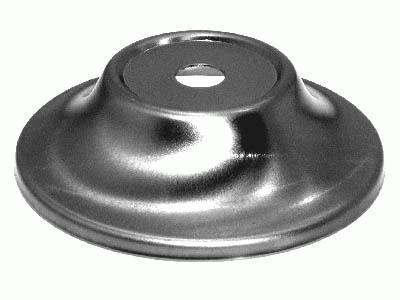 Piattino bobeche per lampadari in ferro grezzo Ø80x20 mm con foro centrale Ø10 mm