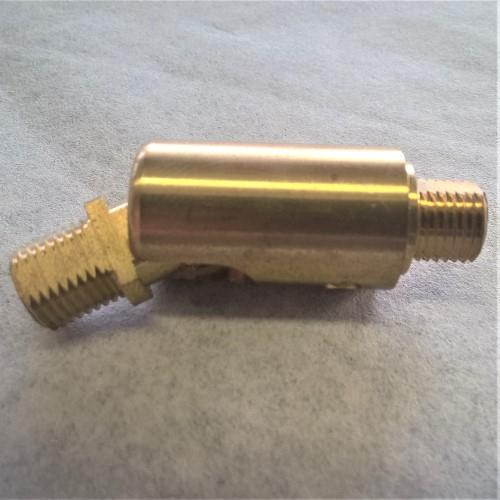 Snodo ottone grezzo M10x1 maschio-maschio