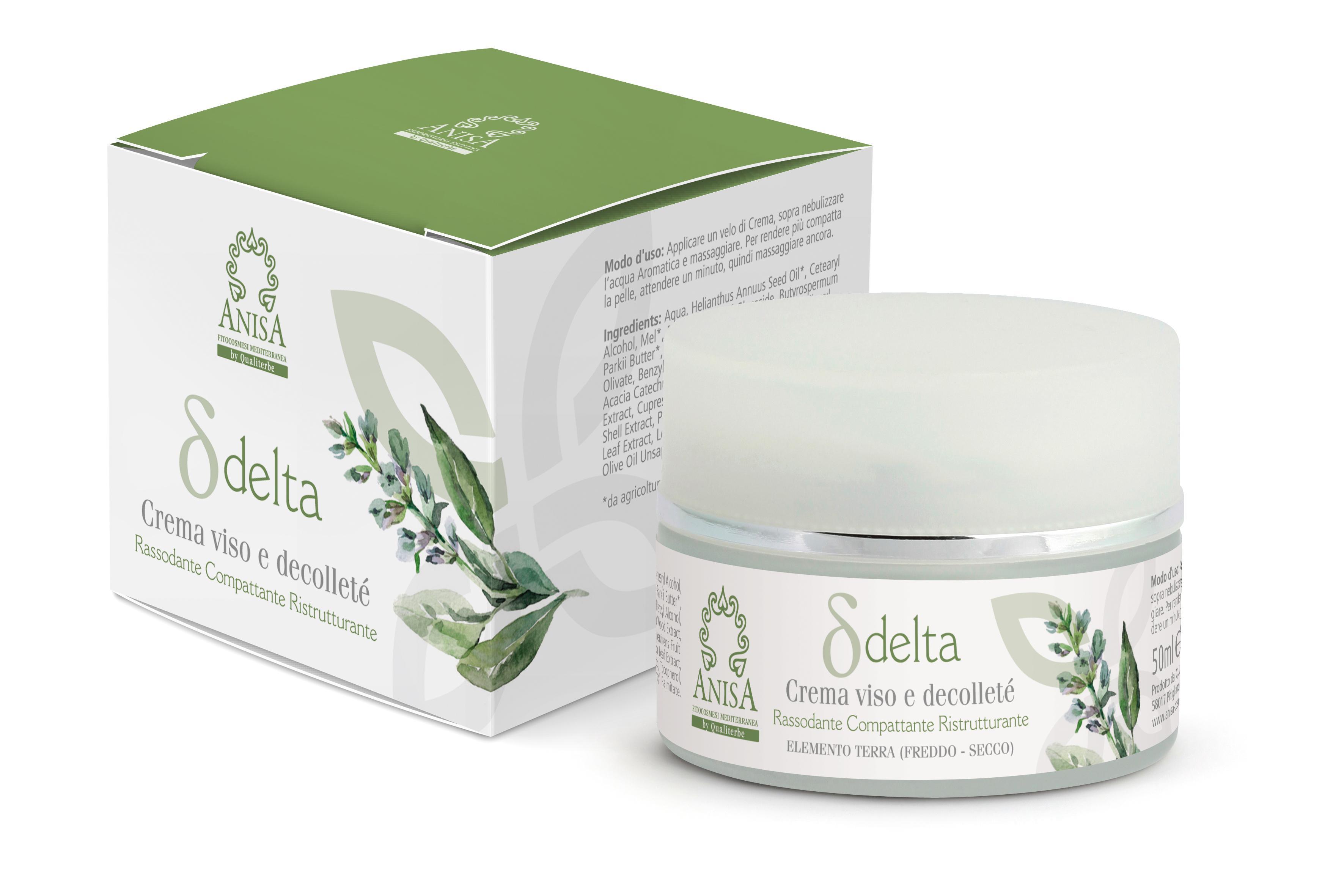 Crema Delta 50ml Viso e Decolletè Superior Texture Linea Professionale ANISA by Qualiterbe