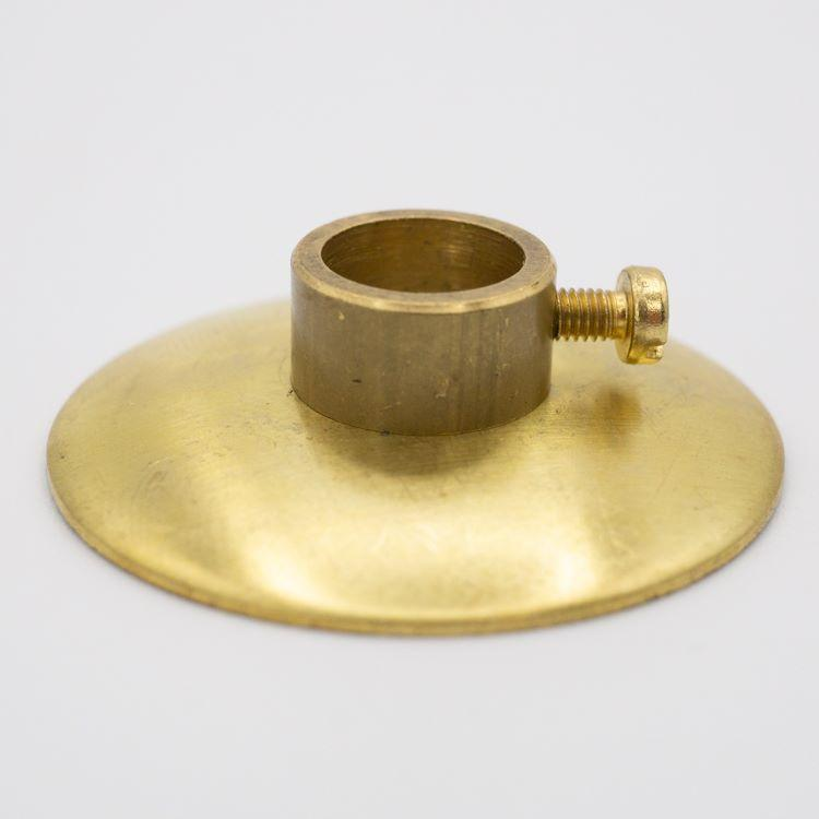 Lente Ø40 ottone con anello a pressione Ø11 mm per canna da 10 mm e vite M3