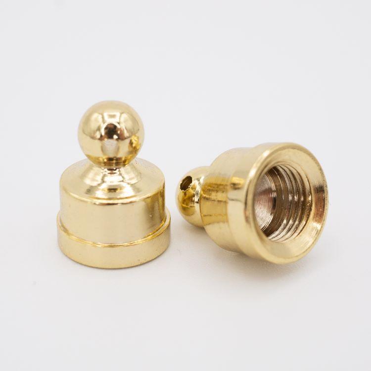 Finale dorato 14x18 - M10x1 con foro laterale 1.5 mm