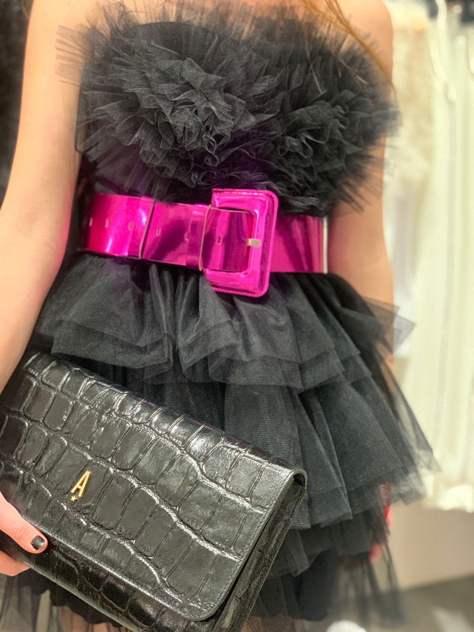 Abito Heart Dress Nina tulle nero Aniye By.