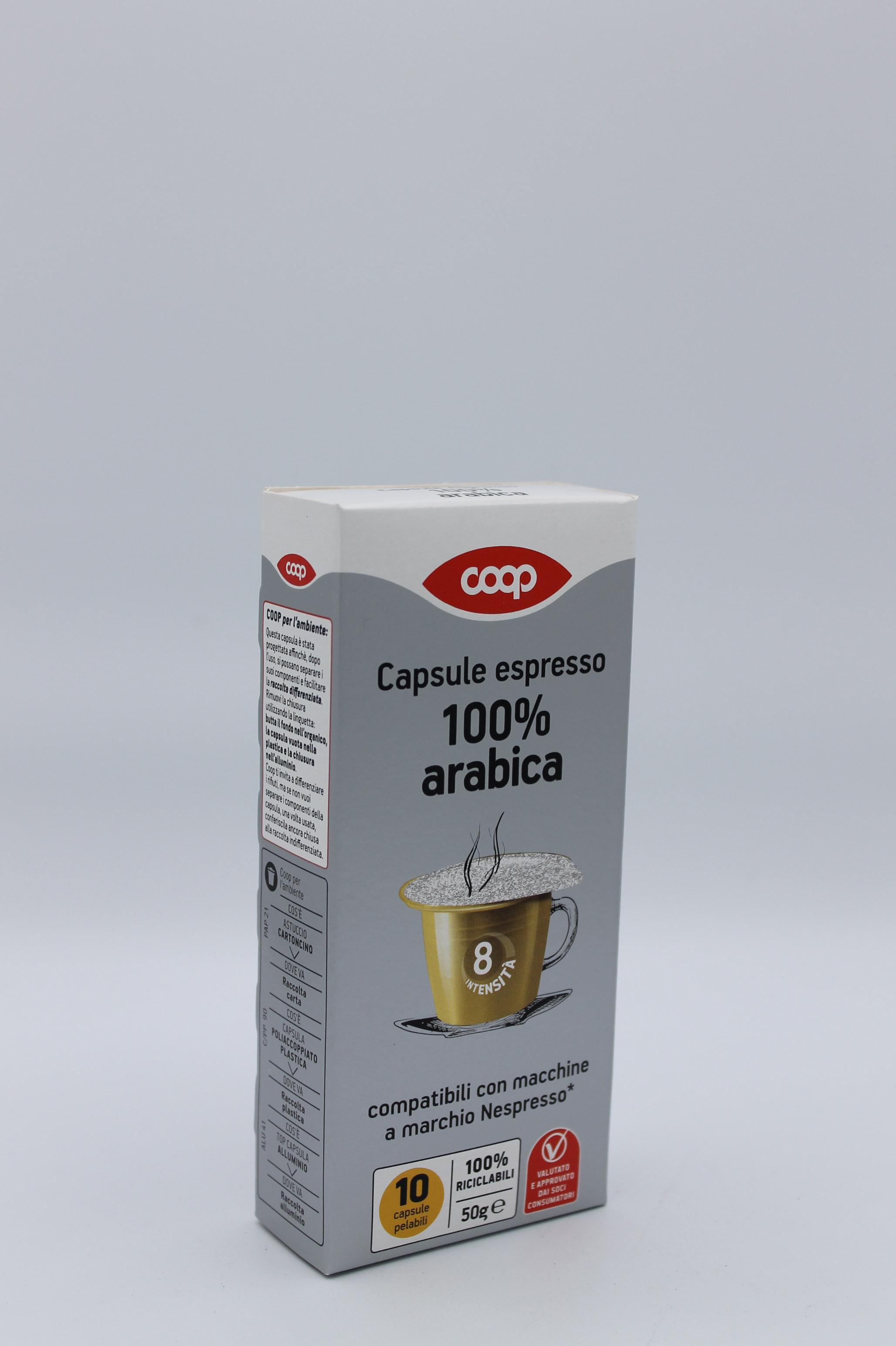 Capsule coop espresso 100% arabica 10x50 gr.