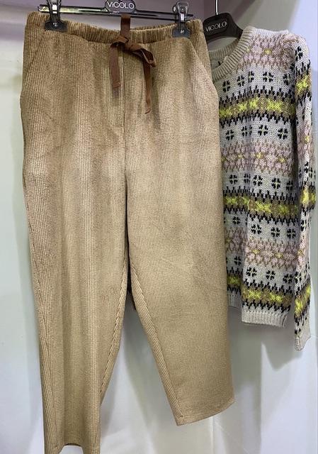 Pantaloni Jogger In velluto rigato Vicolo