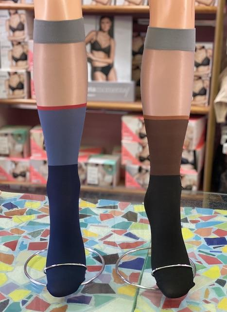 Gambaletto Oroblu coprente colorato motivo trasparente