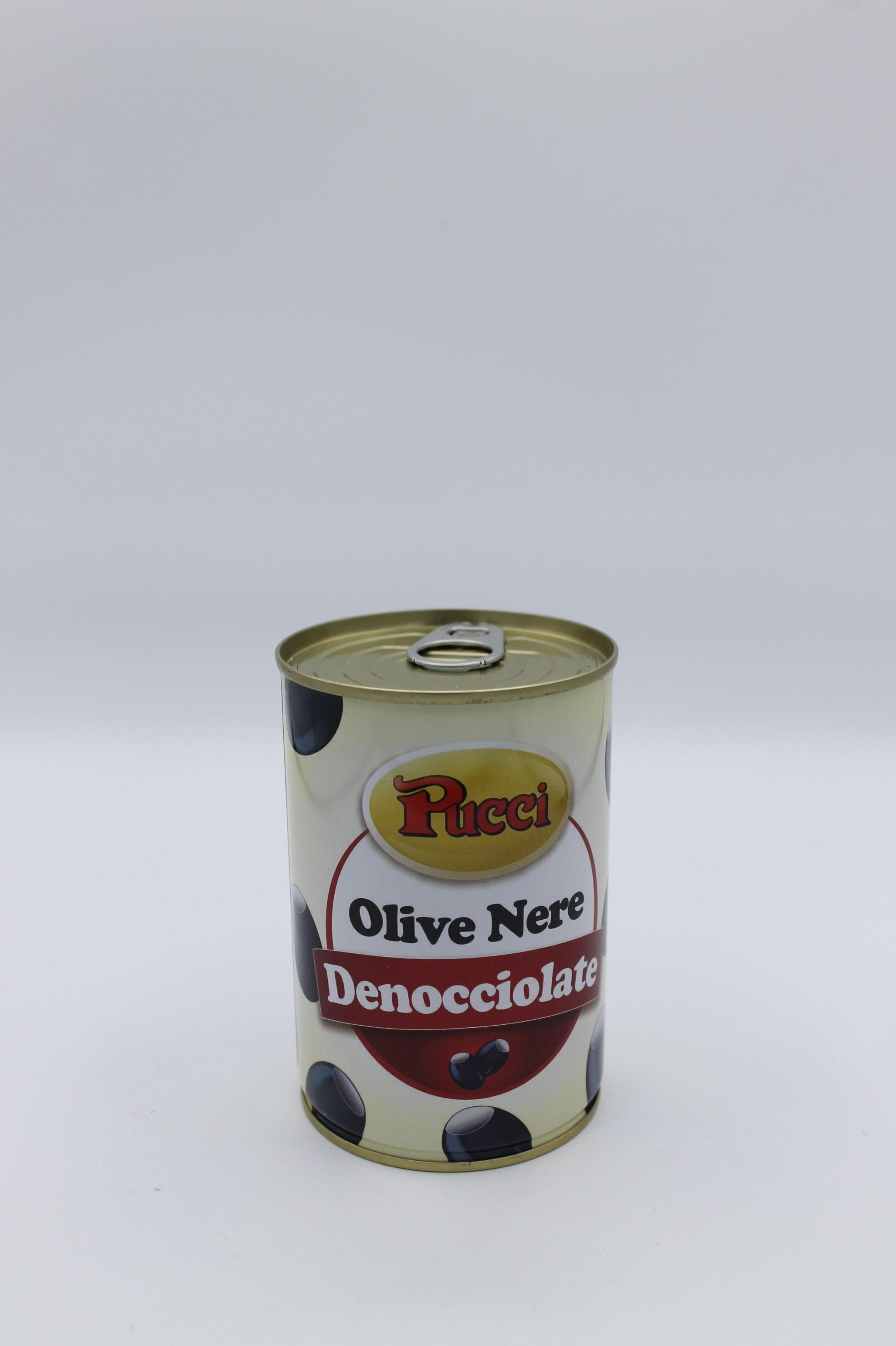 Pucci olive nere denocciolate 170 gr.