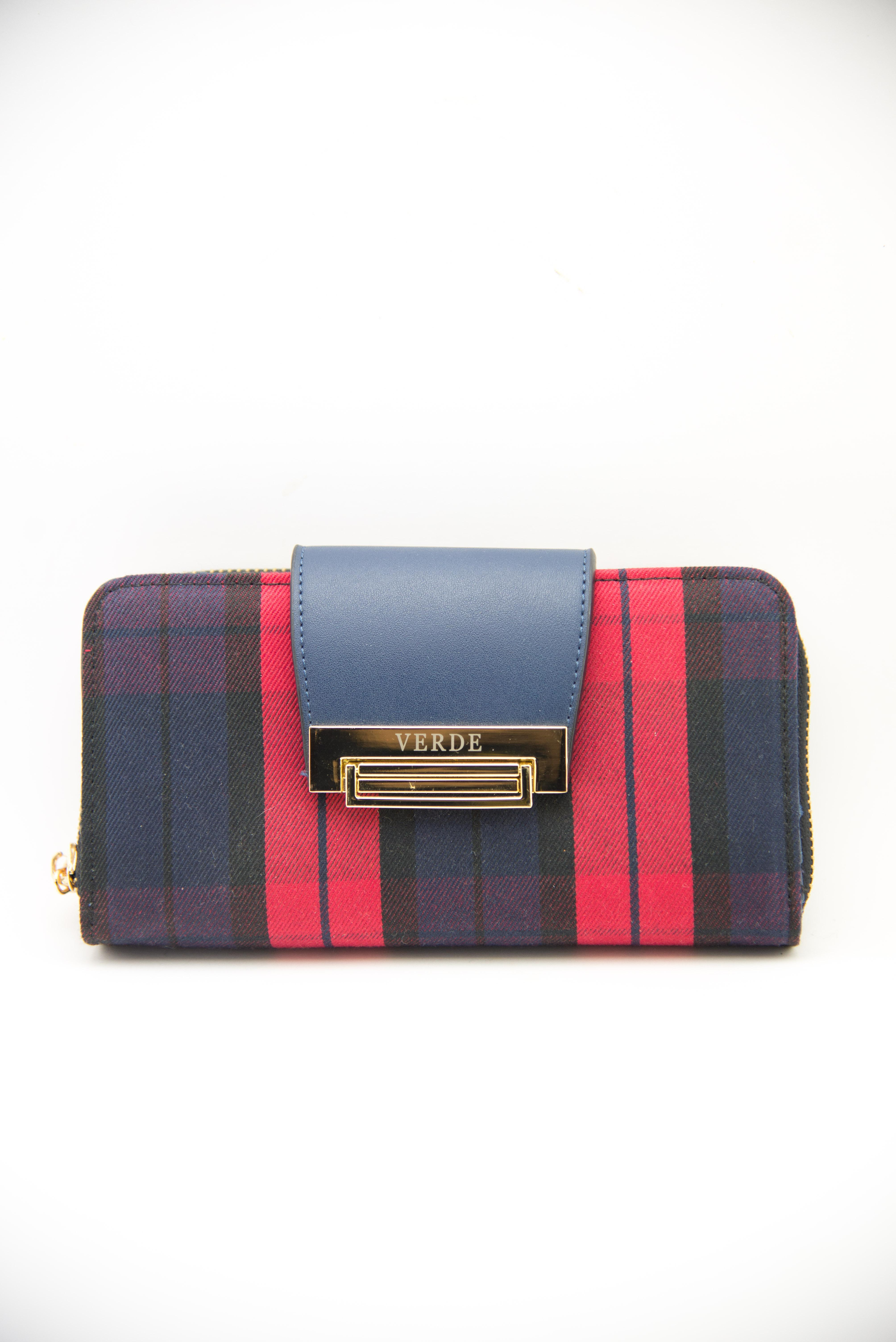 Plaid wallet red and blue | Online sale Women's wallets