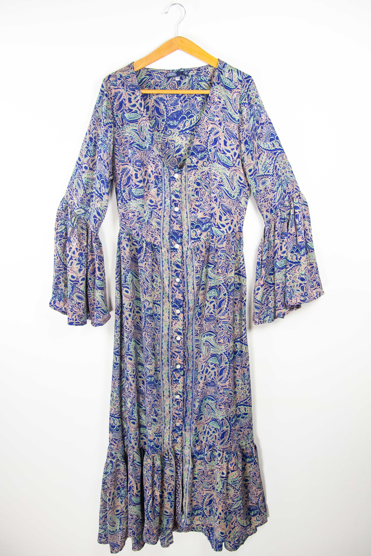 Robe longue chic taille confortable | Vêtements ethniques chics pour femmes en ligne