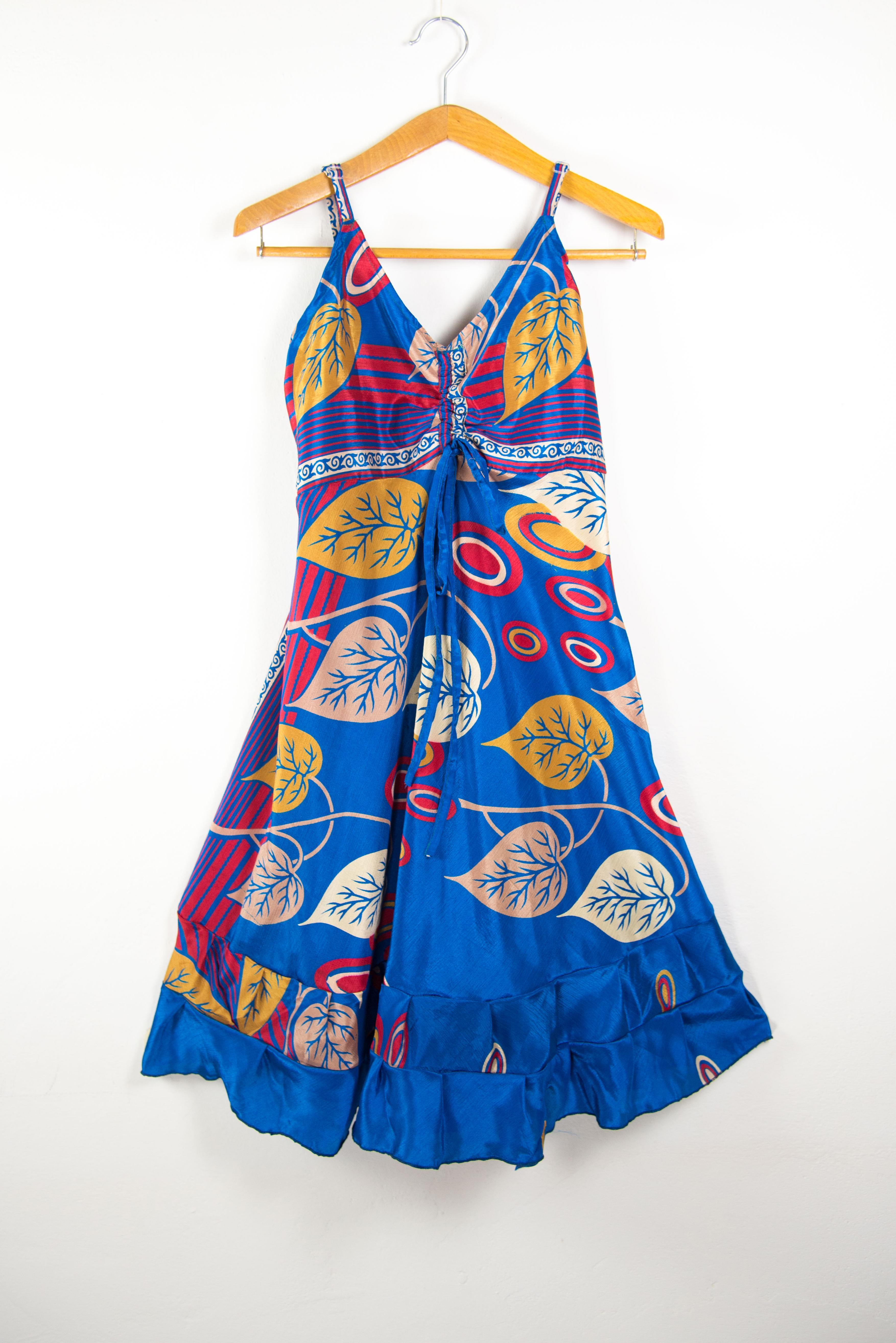 Robe courte artisanale  | Robes d'été  femme en ligne