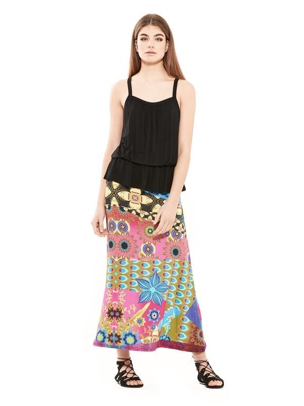 Longue jupe en viscose | Boutique en ligne des jupes d'été