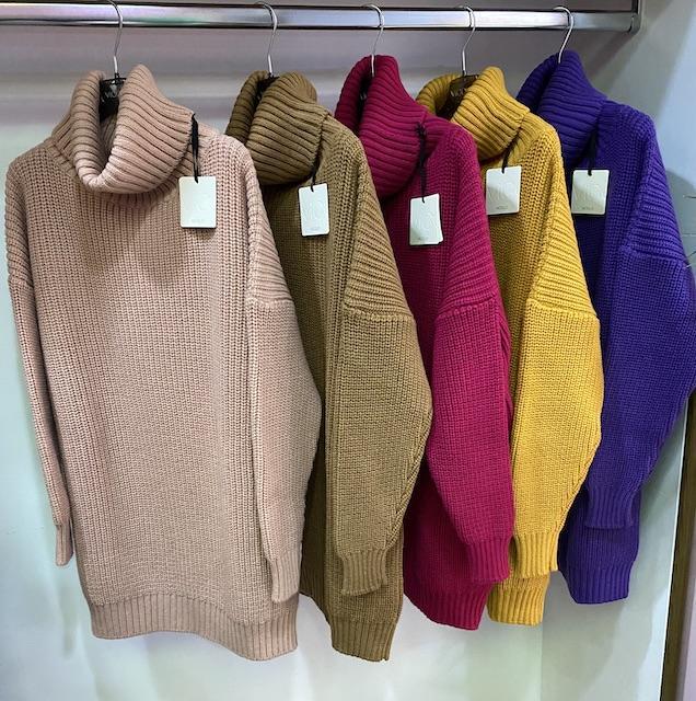 Maxi Pull Dolcevita Vicolo 5 colori