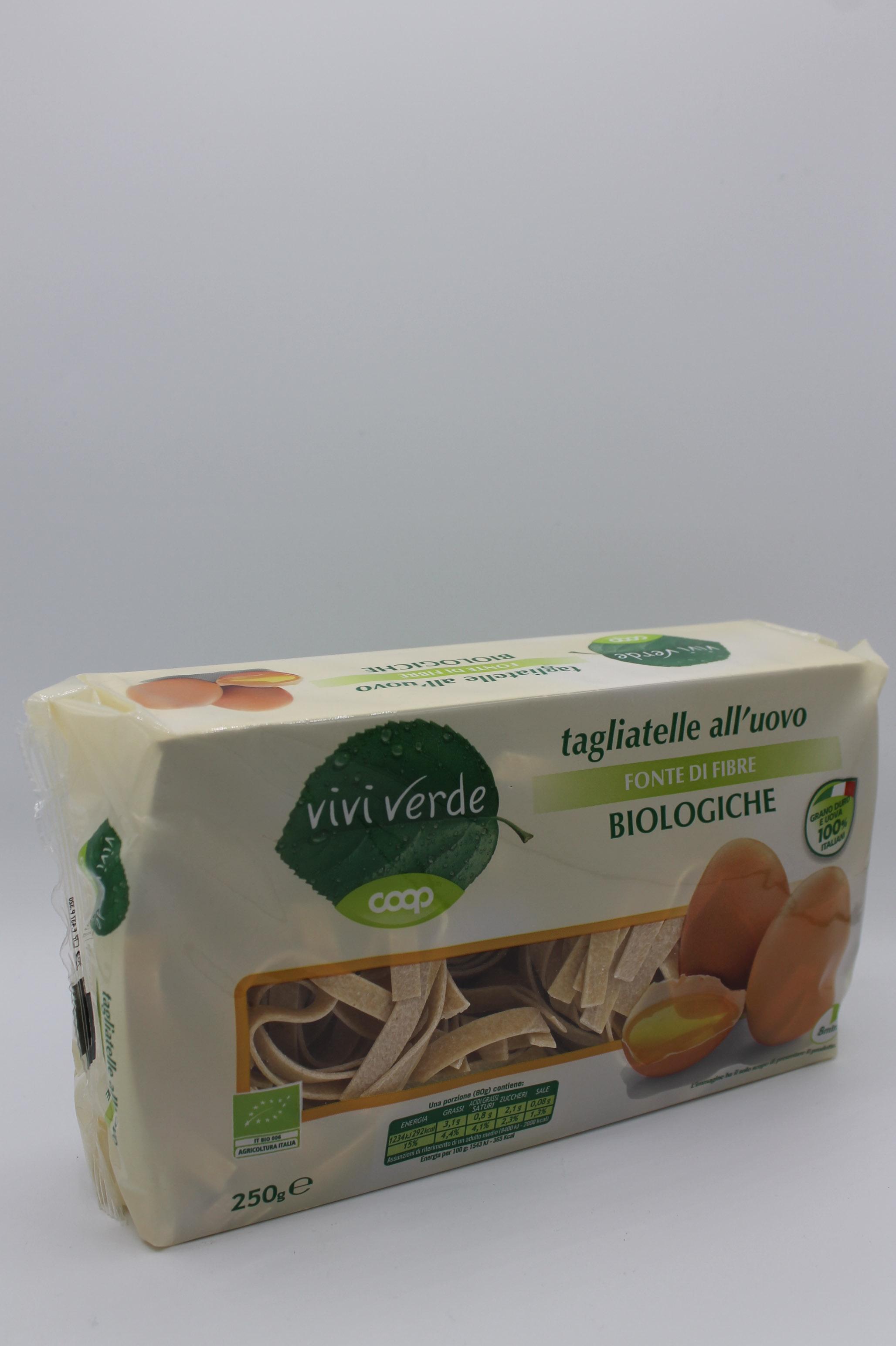 Viviverde coop pasta uovo bio 250gr assortita.